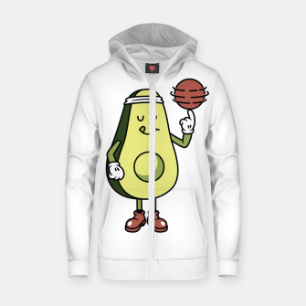 Thumbnail image of Avocado Playing Ball Zip up hoodie, Live Heroes