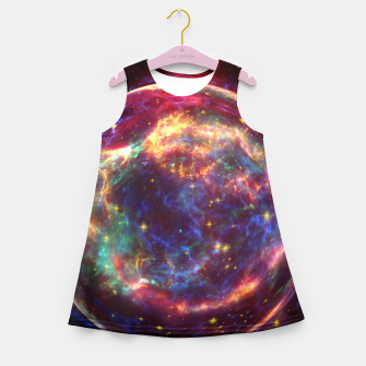 Miniaturka Bubble Galaxy Girl's summer dress, Live Heroes