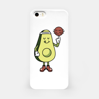 Avocado Playing Ball iPhone Case Bild der Miniatur