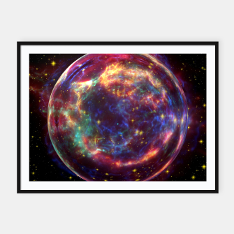 Thumbnail image of Bubble Galaxy Framed poster, Live Heroes