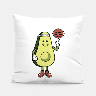Avocado Playing Ball Pillow Bild der Miniatur