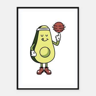 Avocado Playing Ball Framed poster Bild der Miniatur