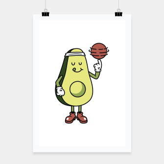 Avocado Playing Ball Poster Bild der Miniatur