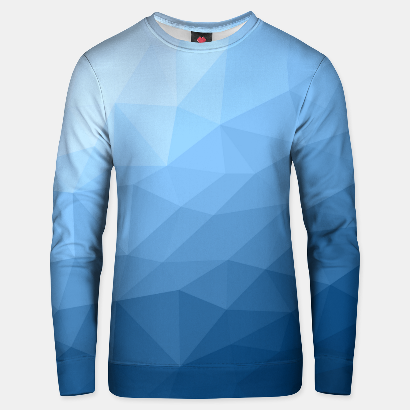 Image of Classic Blue geometric mesh ombre pattern Unisex sweater - Live Heroes