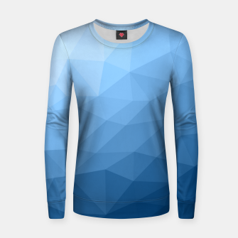 Thumbnail image of Classic Blue geometric mesh ombre Women sweater, Live Heroes