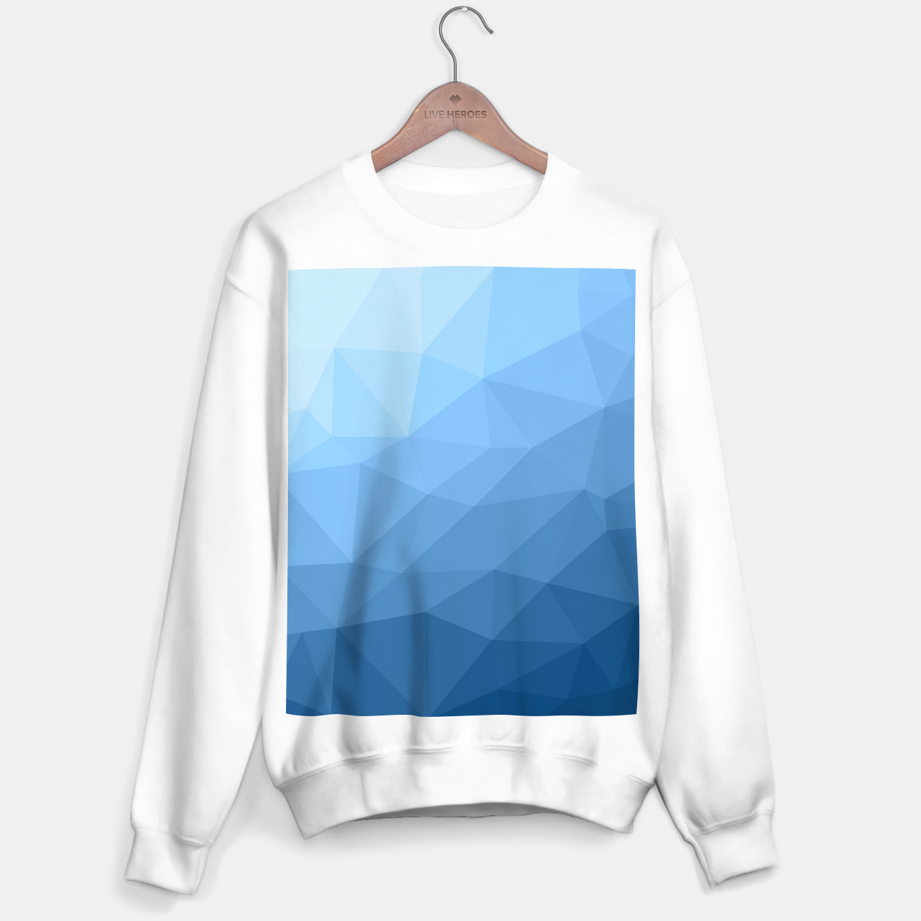 Image of Classic Blue geometric mesh ombre pattern Sweater regular - Live Heroes