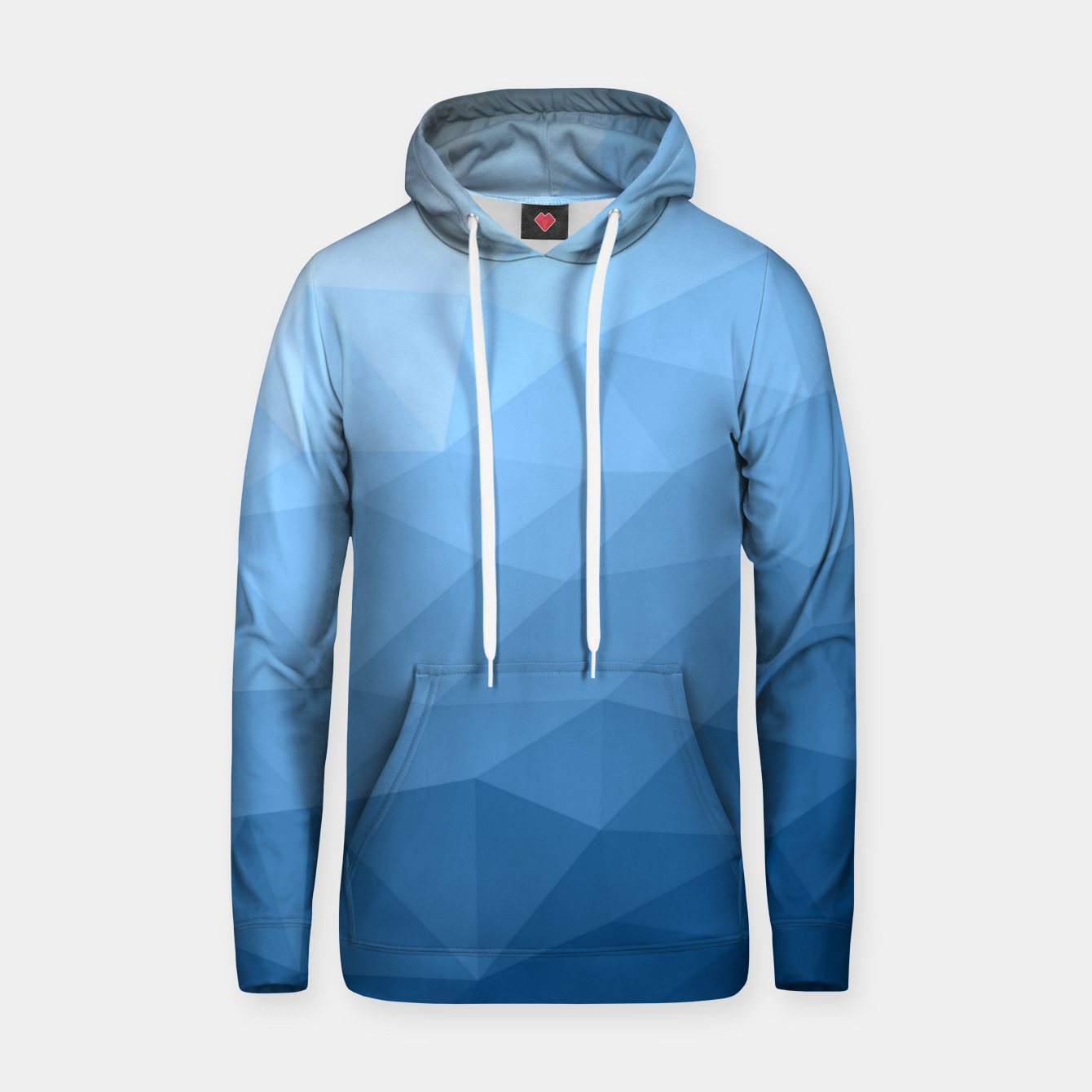 Image of Classic Blue geometric mesh ombre pattern Hoodie - Live Heroes