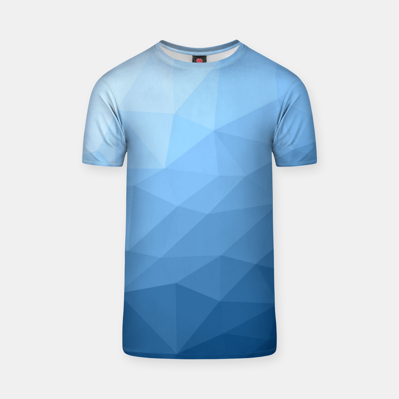Image of Classic Blue geometric mesh ombre pattern T-shirt - Live Heroes