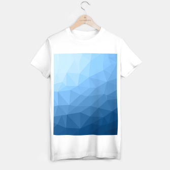 Classic Blue geometric mesh ombre pattern T-shirt regular thumbnail image