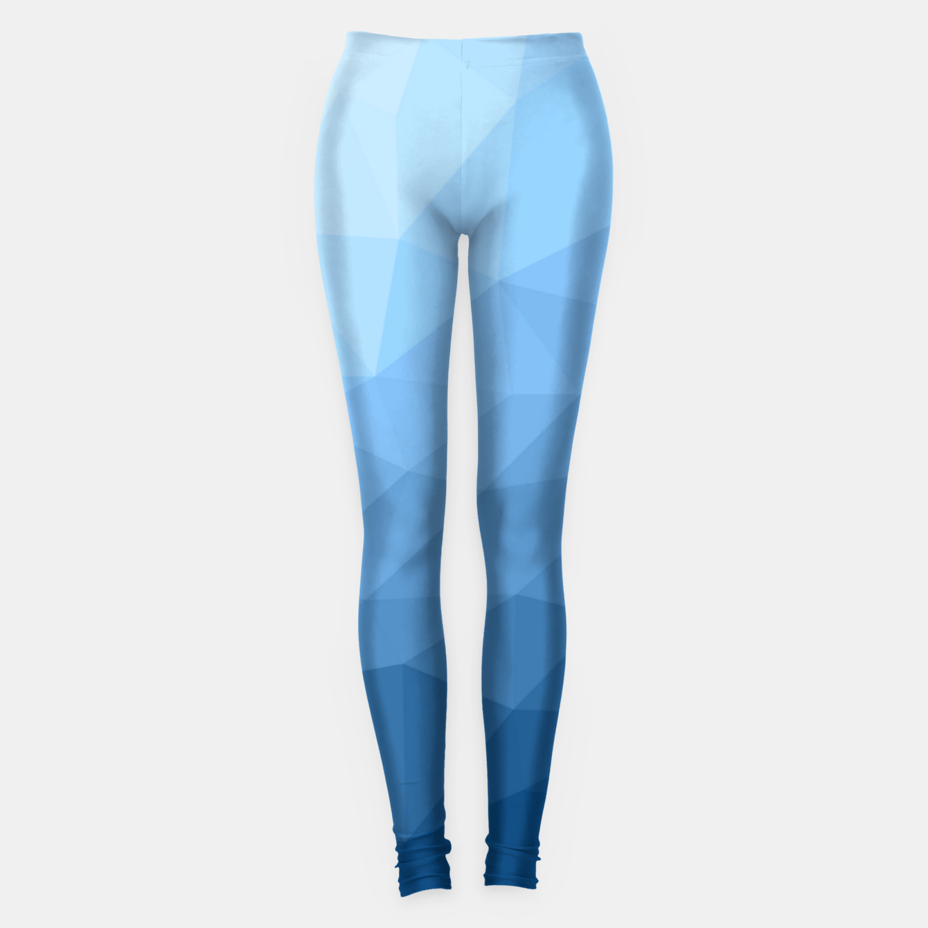 Image of Classic Blue geometric mesh ombre pattern Leggings - Live Heroes