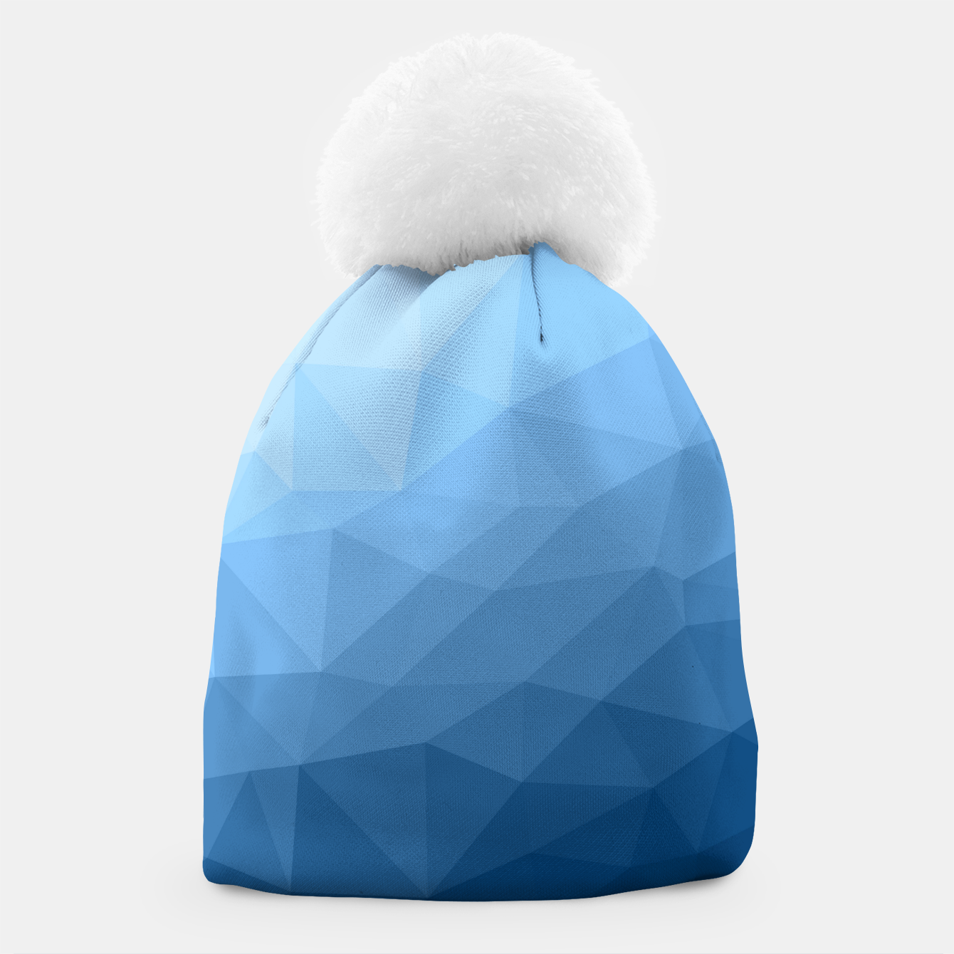 Image of Classic Blue geometric mesh ombre pattern Beanie - Live Heroes