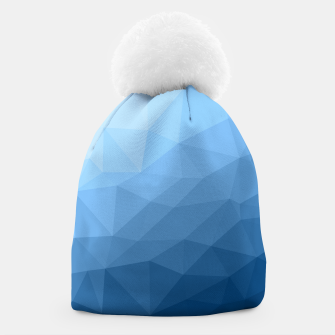 Thumbnail image of Classic Blue geometric mesh ombre Beanie, Live Heroes
