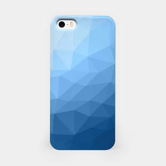 Classic Blue geometric mesh ombre pattern iPhone Case thumbnail image