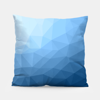 Thumbnail image of Classic Blue geometric mesh ombre Pillow, Live Heroes