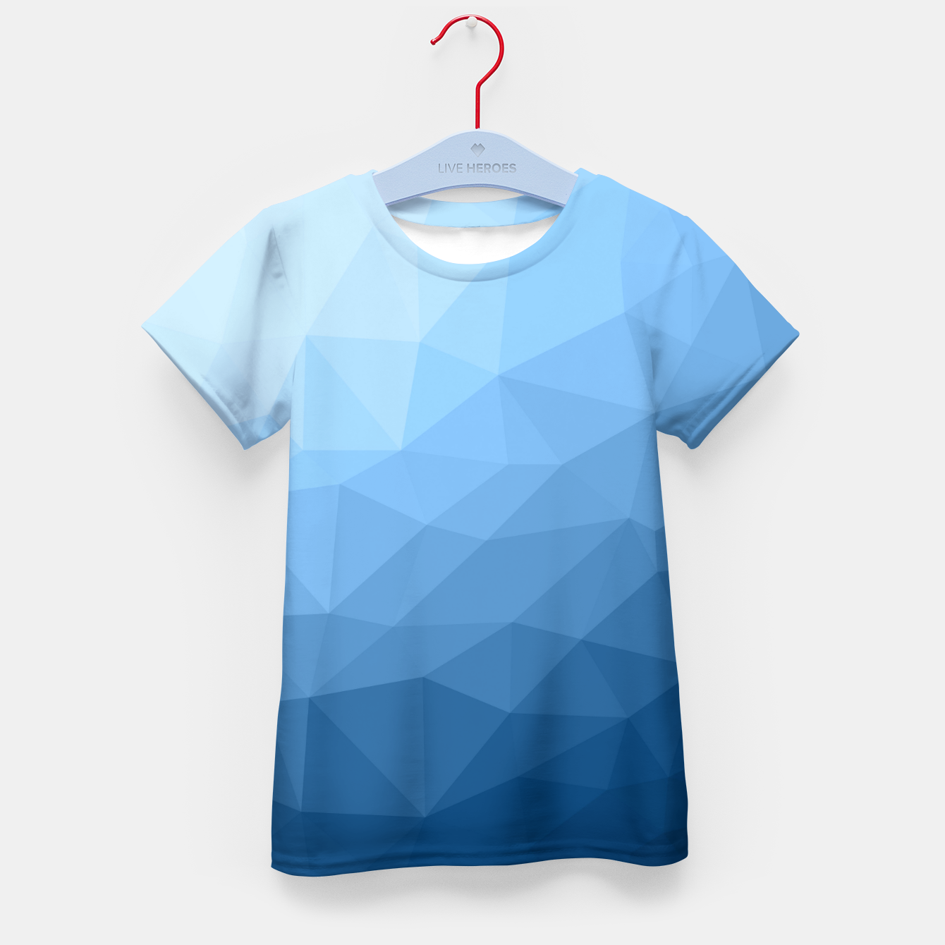 Image of Classic Blue geometric mesh ombre Kid's t-shirt - Live Heroes