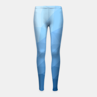 Thumbnail image of Classic Blue geometric mesh ombre pattern Girl's leggings, Live Heroes