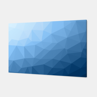 Thumbnail image of Classic Blue geometric mesh ombre pattern Canvas, Live Heroes