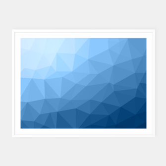 Thumbnail image of Classic Blue geometric mesh ombre pattern Framed poster, Live Heroes