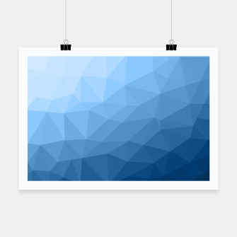 Thumbnail image of Classic Blue geometric mesh ombre pattern Poster, Live Heroes