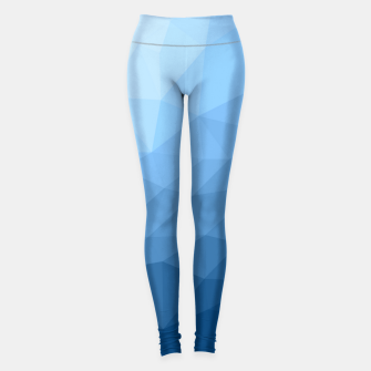 Thumbnail image of Classic Blue geometric mesh ombre pattern Leggings, Live Heroes