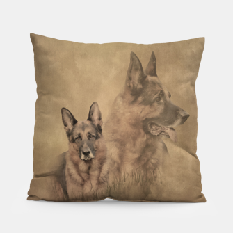 Miniatur German Shepherd Dog - GSD Collage Pillow, Live Heroes