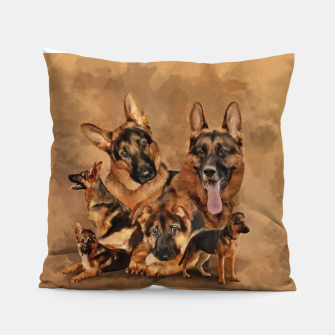 Thumbnail image of German Shepherd Dog - GSD Collage Pillow, Live Heroes