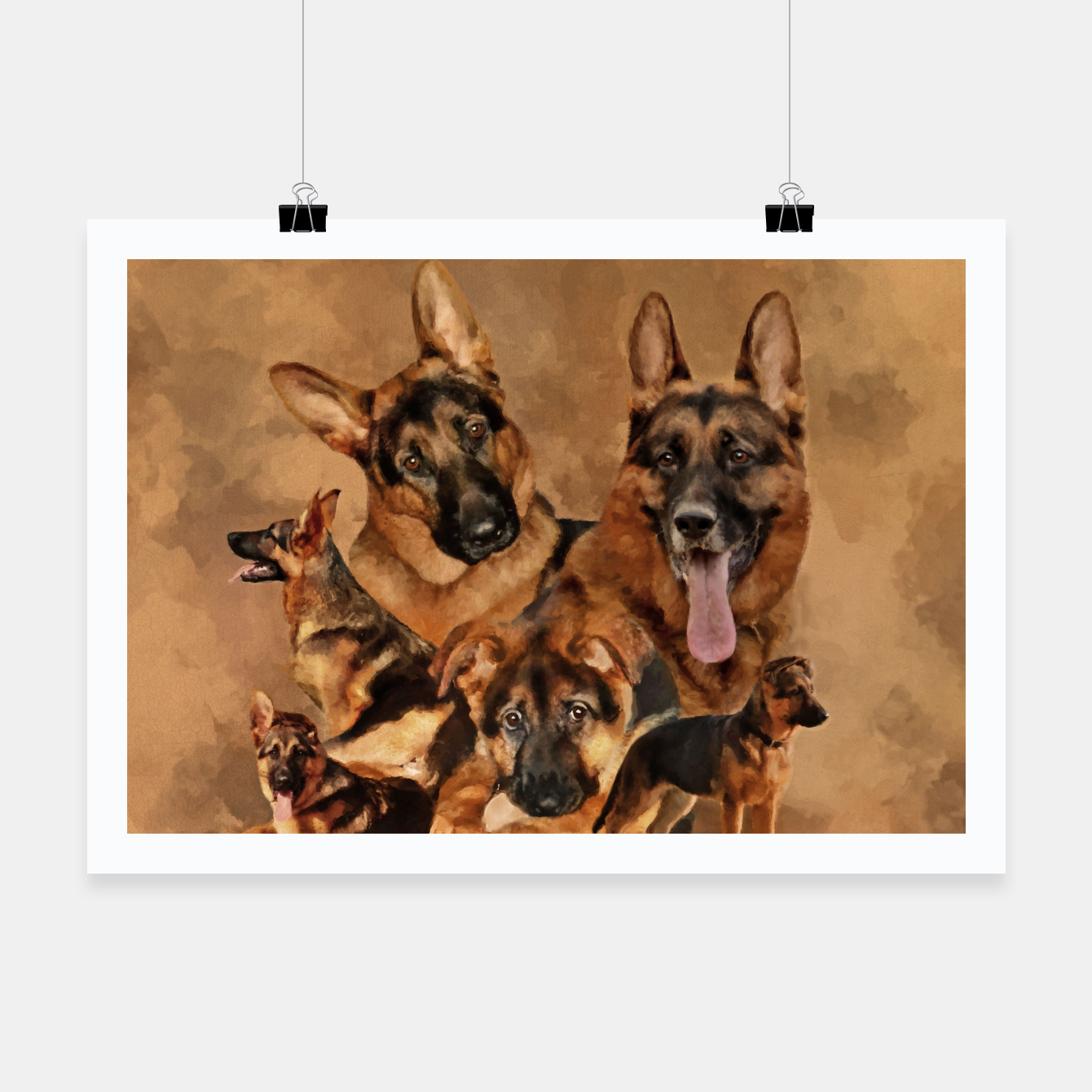 Image of German Shepherd Dog - GSD Collage Poster - Live Heroes