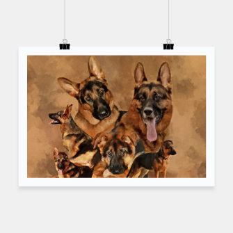 Thumbnail image of German Shepherd Dog - GSD Collage Poster, Live Heroes