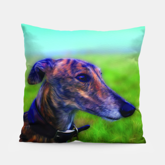 Miniatur Greyhound  Pillow, Live Heroes