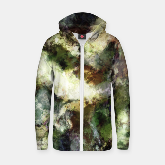 Thumbnail image of Silent erosion Zip up hoodie, Live Heroes