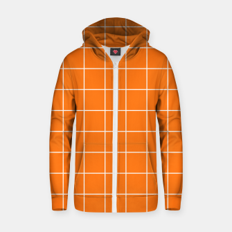 Miniature de image de Vibrant grid on orange Zip up hoodie, Live Heroes