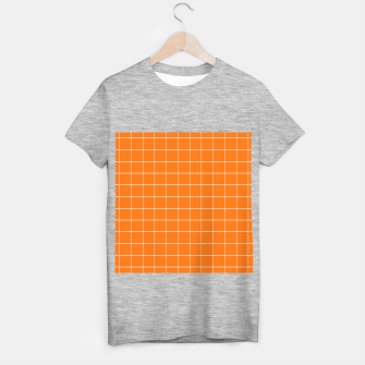 Thumbnail image of Vibrant grid on orange T-shirt regular, Live Heroes