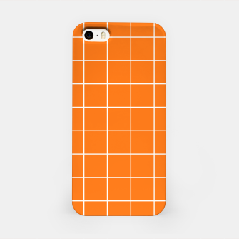 Imagen en miniatura de Vibrant grid on orange iPhone Case, Live Heroes