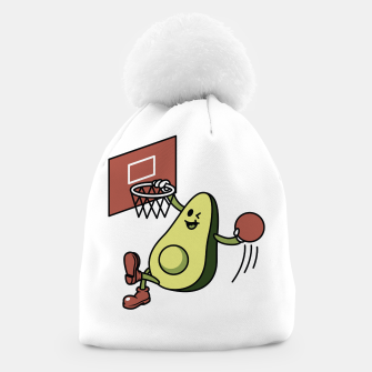 Thumbnail image of Avocado Playing Basketball Beanie, Live Heroes