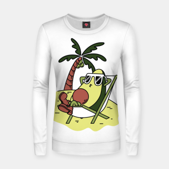 Thumbnail image of Avocado Relax Women sweater, Live Heroes