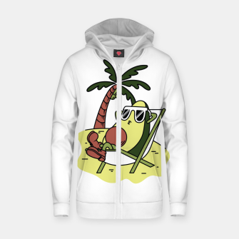 Miniature de image de Avocado Relax Zip up hoodie, Live Heroes