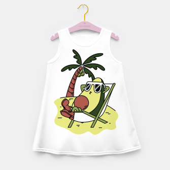 Thumbnail image of Avocado Relax Girl's summer dress, Live Heroes