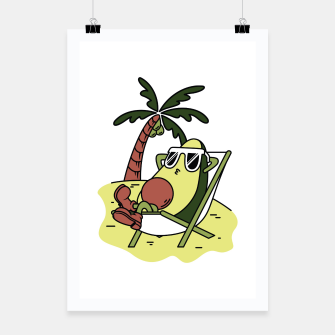 Thumbnail image of Avocado Relax Poster, Live Heroes