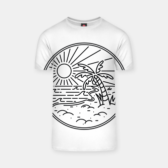 Thumbnail image of Beach Line T-shirt, Live Heroes