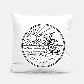 Thumbnail image of Beach Line Pillow, Live Heroes