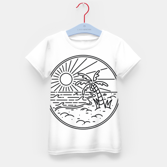 Thumbnail image of Beach Line Kid's t-shirt, Live Heroes