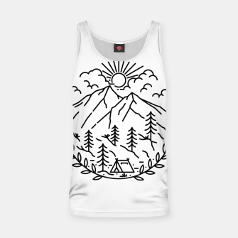 Miniatur Camping Tank Top, Live Heroes