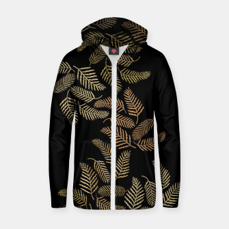 Thumbnail image of Golden fern Zip up hoodie, Live Heroes