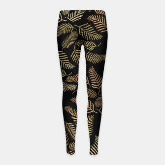 Thumbnail image of Golden fern Girl's leggings, Live Heroes