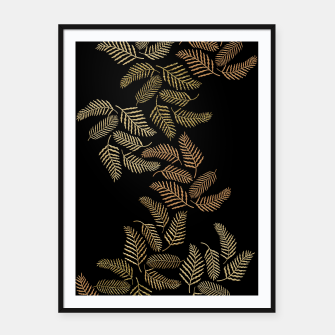 Thumbnail image of Golden fern Framed poster, Live Heroes