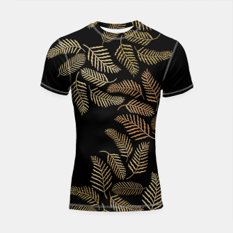 Thumbnail image of Golden fern Shortsleeve rashguard, Live Heroes