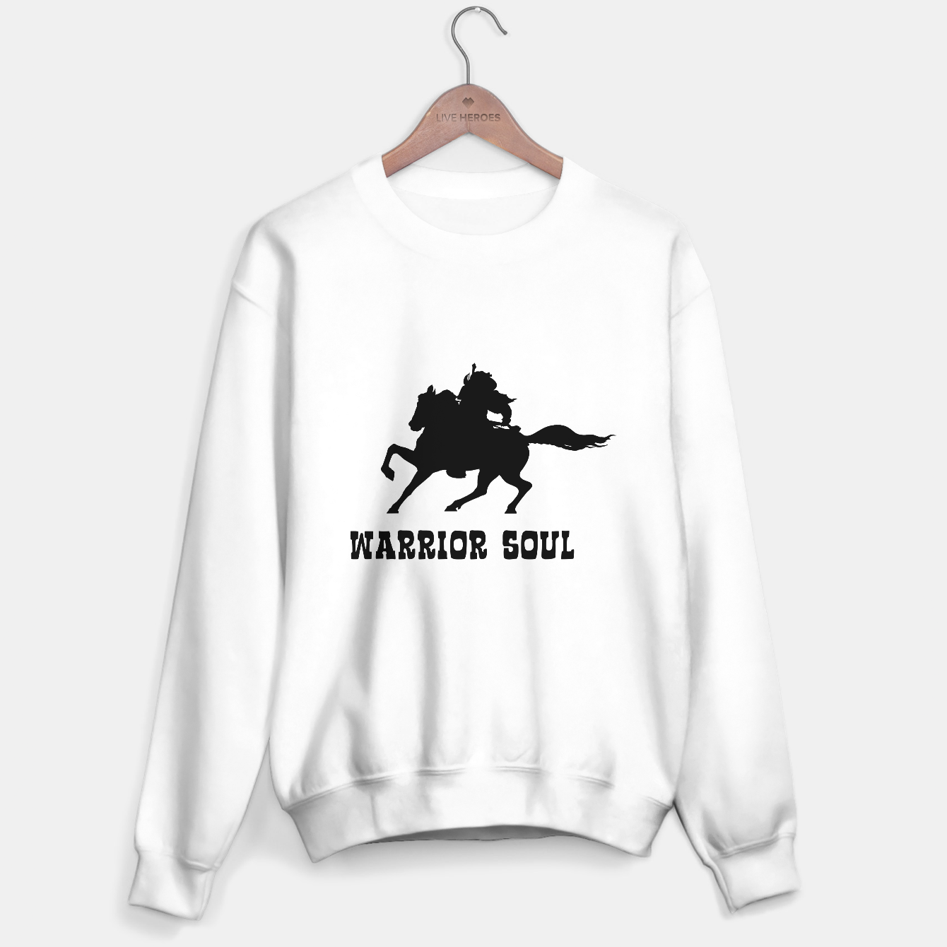 Zdjęcie Warrior Soul Graphic Silhouette Concept Sweater regular - Live Heroes