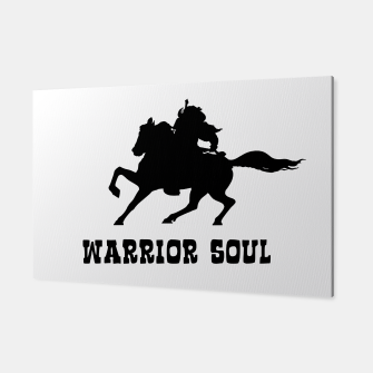Warrior Soul Graphic Silhouette Concept Canvas obraz miniatury