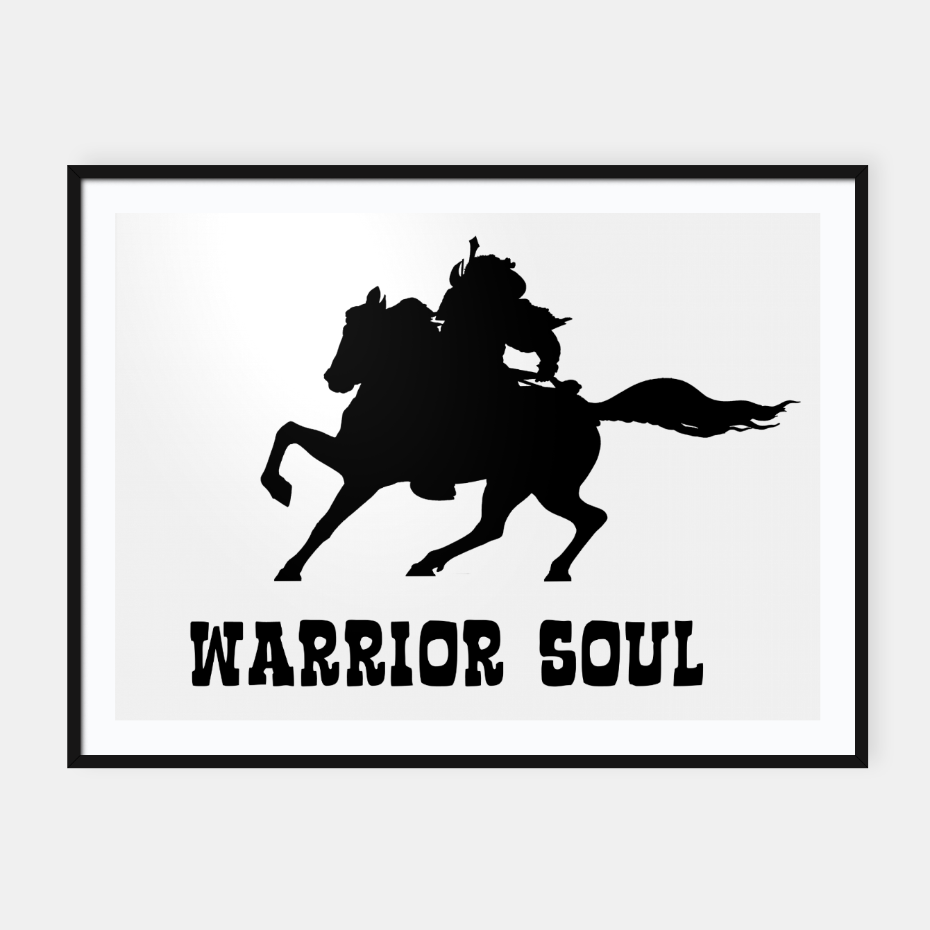 Zdjęcie Warrior Soul Graphic Silhouette Concept Framed poster - Live Heroes