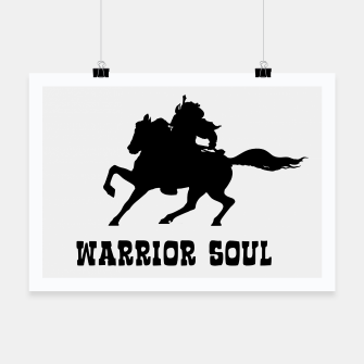Miniaturka Warrior Soul Graphic Silhouette Concept Poster, Live Heroes